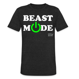 BEAST MODE ON - Unisex Tri-Blend T-Shirt by American Apparel