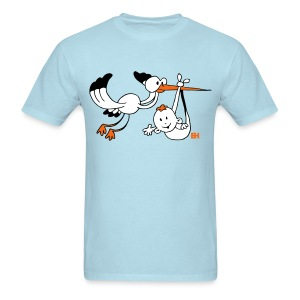 Stork with baby - Men's T-Shirt