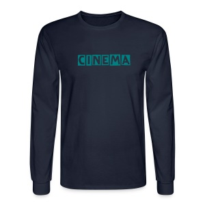 Cinema   long sleeve shirt...teal green blue insignia - Men's Long Sleeve T-Shirt