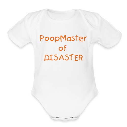 PoopMaster of Disaster 1-Piece - Organic Short Sleeve Baby Bodysuit
