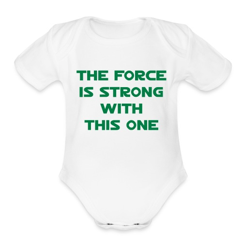 The Force 1-Piece - Organic Short Sleeve Baby Bodysuit