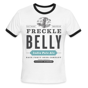 Freckle Belly Logo Ringer T - Men's Ringer T-Shirt