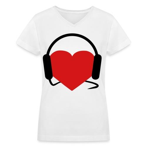 Rave Girl. - Women's V-Neck T-Shirt