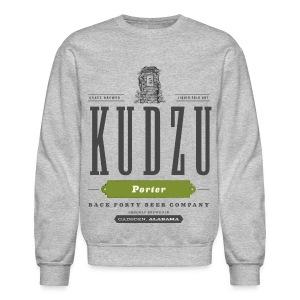Men's Long Sleeve Kudzu Porter (front) Sweatshirt - Crewneck Sweatshirt