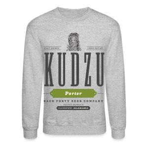 Men's Long Sleeve Kudzu Porter (front) Sweatshirt - Crewneck Sweatshirt