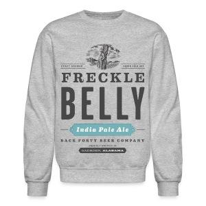 Men's Long Sleeve Freckle Belly (front) Sweatshirt - Crewneck Sweatshirt