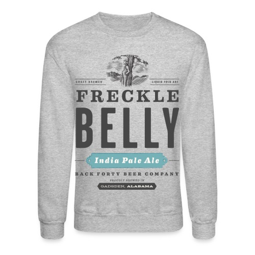 Men's Long Sleeve Freckle Belly (front) Sweatshirt - Crewneck Sweatshirt