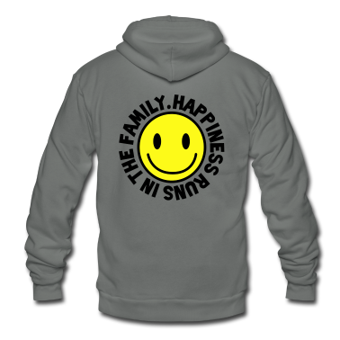 HAPPINESS runs in the FAMILY smiley Zip Hoodies/Jackets