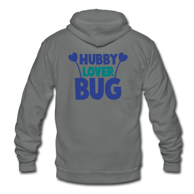hubby husband lover love bug with cute antennae Zip Hoodies/Jackets
