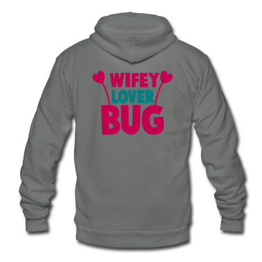 wifey wife lover love bug with cute antennae Zip Hoodies/Jackets