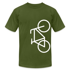 Bike Lane White Lines- American Apparel AA Shirt (M) - Men's Fine Jersey T-Shirt