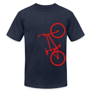 BMX Red- American Apparel AA Shirt (M) - Men's Fine Jersey T-Shirt