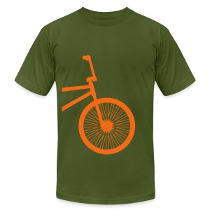 BMX Orange- American Apparel AA Shirt (M) - Men's Fine Jersey T-Shirt