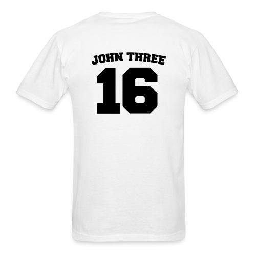 Men's Black John 3:16  - Men's T-Shirt
