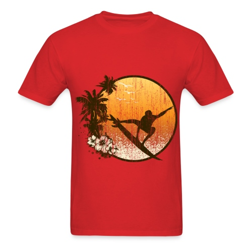 VINTAGE SUMMER SURFING - Men's T-Shirt