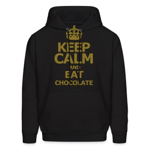 KEEP CALM AND EAT CHOCOLATE - Men's Hoodie