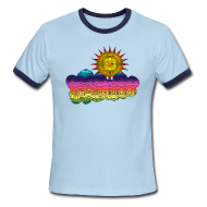 T-Shirts ~ Men's Ringer T-Shirt ~ Got the sun in the 70's