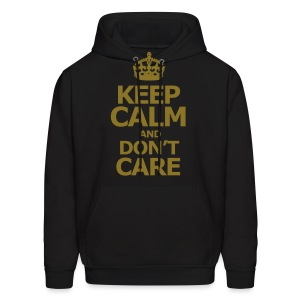 KEEP CALM AND DON'T CARE - Men's Hoodie