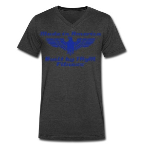 TRyM Fitness American V-neck - Men's V-Neck T-Shirt by Canvas