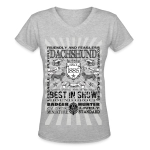 Dachshund 'Best in Show' Women's Tshirt - Women's V-Neck T-Shirt