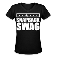 T-Shirts ~ Women's V-Neck T-Shirt ~ Snapback Swag