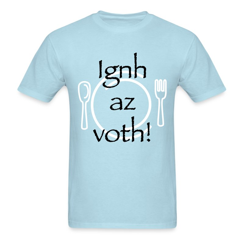 Ignh az voth! Bring the food! WHITE/NAVY ink - UNISEX  - Men's T-Shirt