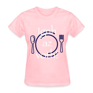 Ignh az voth! Bring the food! WHITE/NAVY ink - WOMENS - Women's T-Shirt