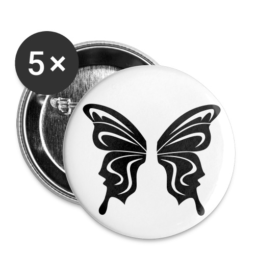 Blk Butterfly Buttons 5 Pack - Small Buttons