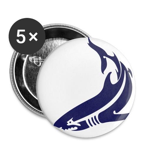 Blue Shark Buttons 5 Pack - Small Buttons