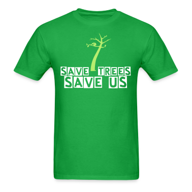 save trees save us Men's Standard Weight T-Shirt