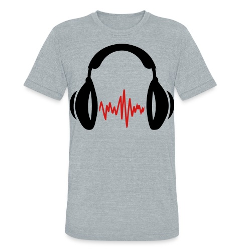 Headphones V from American Apparel - Unisex Tri-Blend T-Shirt