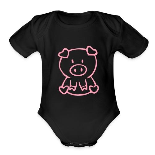 piggy baby one piece - Organic Short Sleeve Baby Bodysuit