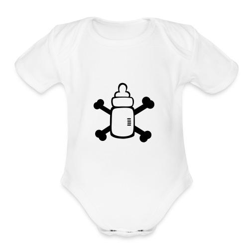 Milk pirate baby one piece - Organic Short Sleeve Baby Bodysuit