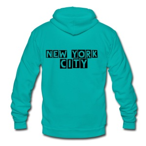NYC   hoodie designed by Matthew S.Smith - Unisex Fleece Zip Hoodie by American Apparel
