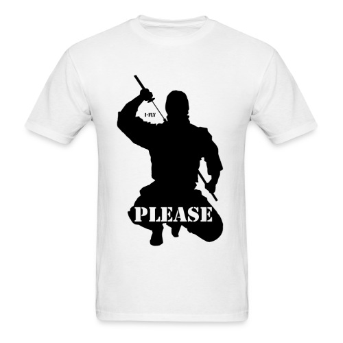 Ninja Please, - Men's T-Shirt