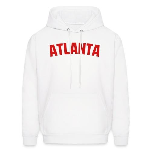 Atlanta Hoodie - White/Red - Men's Hoodie