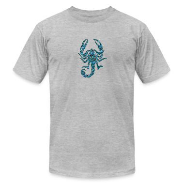 Scorpion, digital blue, Scorpio T-Shirts