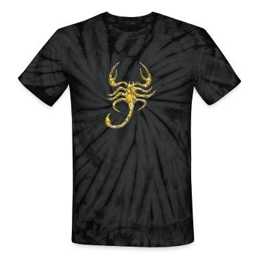 Scorpion, digital gold, Scorpio T-Shirts