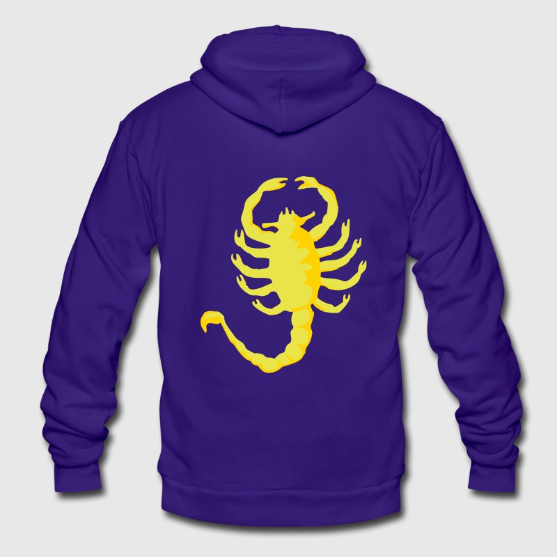 Scorpion Drive, 2c, Scorpio,  Zip Hoodies/Jackets - Unisex Fleece Zip Hoodie by American Apparel