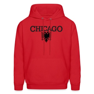 Chicago Albanian Flag - Men's Hoodie