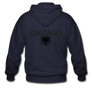 Chicago Albanian Flag - Men's Zip Hoodie
