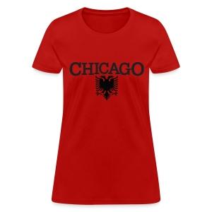 Chicago Albanian Flag - Women's T-Shirt