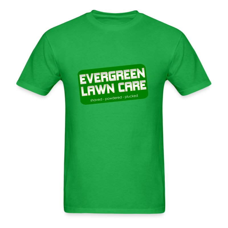 Lawn care shaved powdered plucked funny t shirt spreadshirt for Lawn care t shirt designs