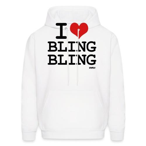 I love Bling Bling - Men's Hoodie