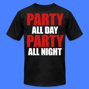 Party All Day Party All Night T-Shirts - stayflyclothing.com - Men's T-Shirt by American Apparel