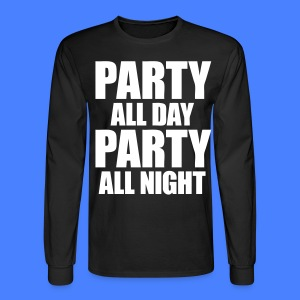 Party All Day Party All Night Long Sleeve Shirts - stayflyclothing.com - Men's Long Sleeve T-Shirt