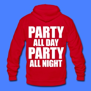 Party All Day Party All Night Zip Hoodies/Jackets - stayflyclothing.com - Unisex Fleece Zip Hoodie by American Apparel