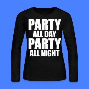 Party All Day Party All Night Long Sleeve Shirts - stayflyclothing.com - Women's Long Sleeve Jersey T-Shirt
