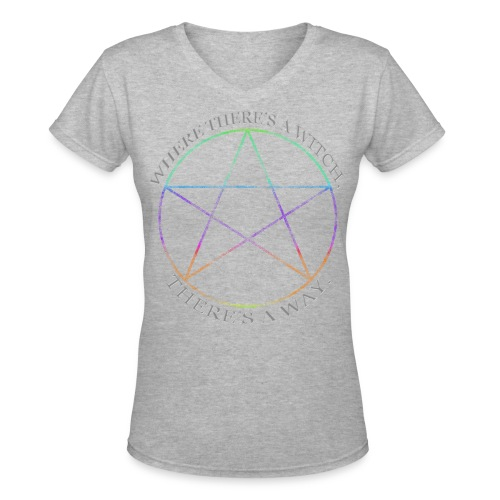 Where there's a Witch, there's a way - Women's V-Neck T-Shirt