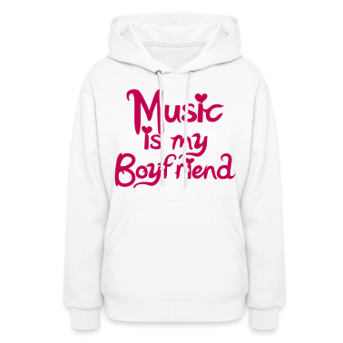 Music is my Boyfriend Vector Hoodies